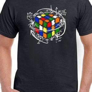 New Rubik's cube equation Xlg  black T
